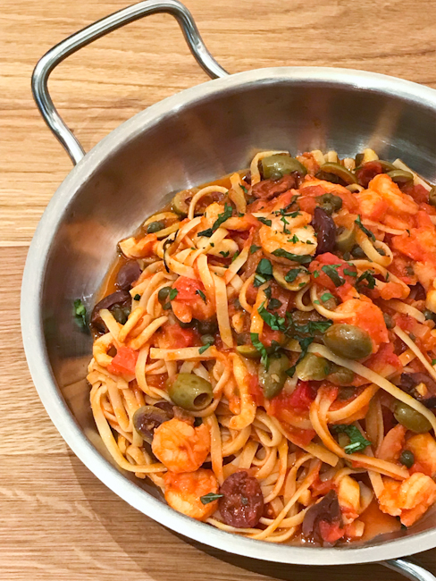 Spaghetti Puttanesca | ShesCookin.com
