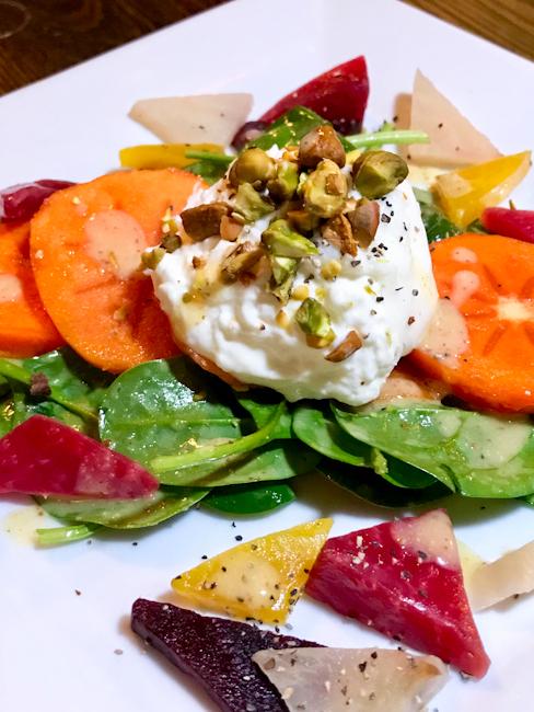 Beet persimmon burrata salad | ShesCookin.com