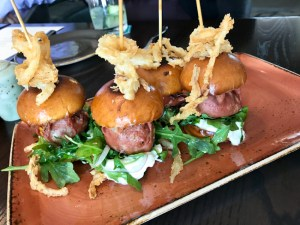 Turkey Mortadella Sliders, AVEO Table + Bar