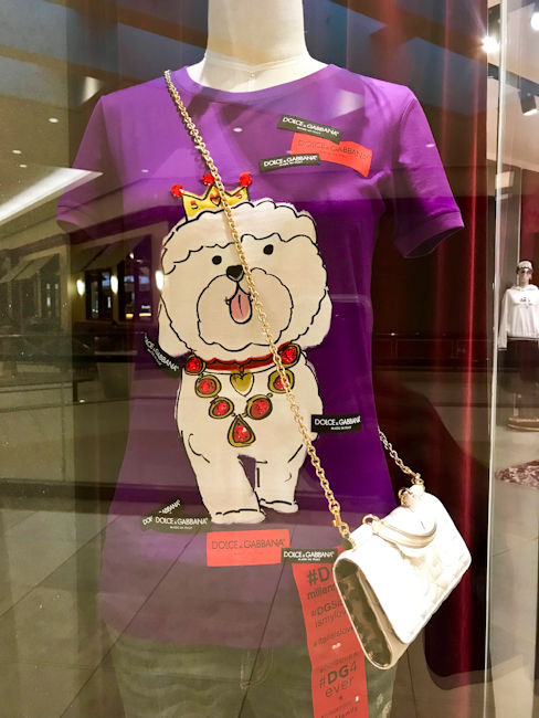 Dolce and Gabbana Year of the Dog window display for Chinese New Year