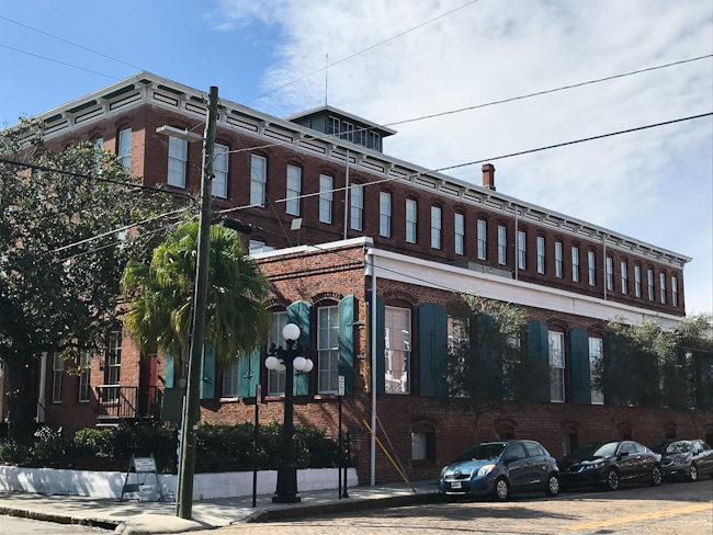 First cigar factory in Ybor City,