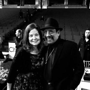 Priscilla Willis with Actor Danny Trejos at Dux In Tux 2018