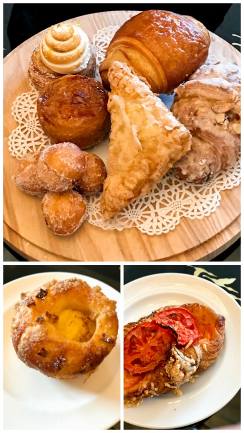 Breakfast pastries at Montage Laguna Beach Lobby Lounge
