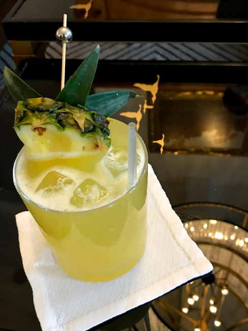 Wilson cocktail with pineapple, Montage Laguna Beach