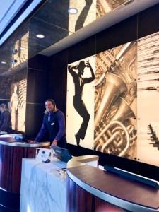 Reception area at Avenue of Arts Hotel, Costa Mesa, California
