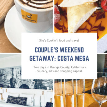 Collage of photos for Couple's Weekend Getaway in Costa Mesa, CA