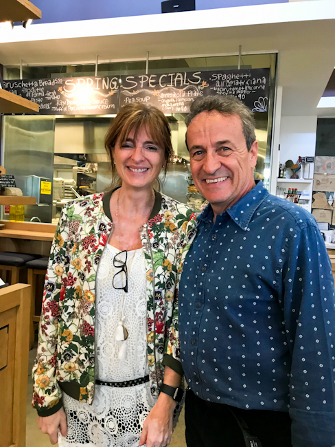 Maurizio and Barbara Cocchi of Bologna, owners of Vitaly Caffe at The Camp