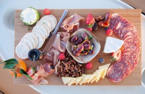 Cheese Board and assorted cured meats