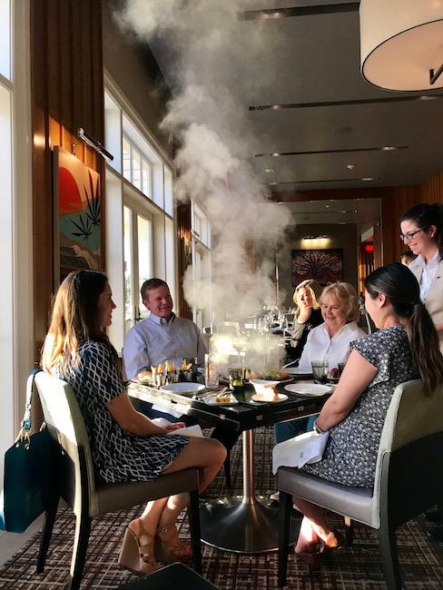 dining at Bourbon Steak at Monarch Beach Resort, Dana Point, California