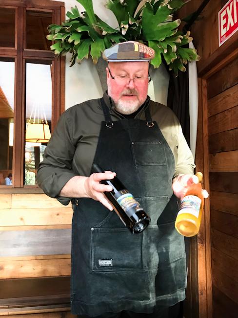 Steve Wambsganss at Duck Soup restaurant, San Juan Island