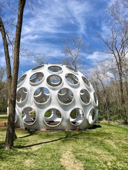 Fly's Eye Dome by Buckminster Fuller, Crystal Bridges Museum of Modern Art