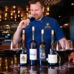 Chef Zach Scherer tasting Quintessa wines