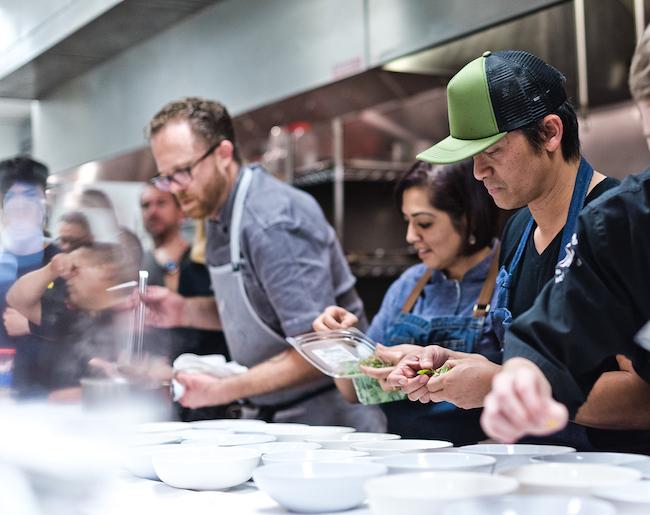 Orange County chefs in the kitchen