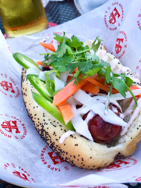 Banh mi hot dog at TAPS Brewery and Barrel Room