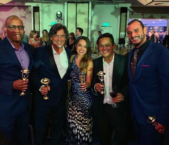 Golden Foodie award winners Jamon Harper, Ivan Calderon, Ross Pangilinan, Noah Blom