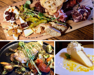 Iberico Board, Cod Bacalao and Key Lime Pie at Michael's Tasting Room, St. Augustine