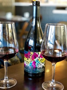 Pinot Noir wine with two glasses at MixMix