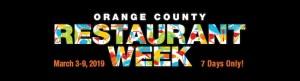 Orange County Restaurant Week 2019