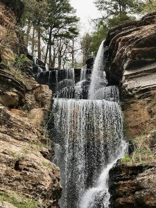 Waterfall at Dogwood Canyon in Missouri