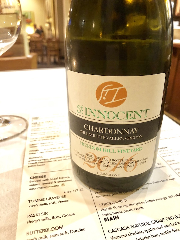 St. Innocent Chardonnay, Salem, Oregon