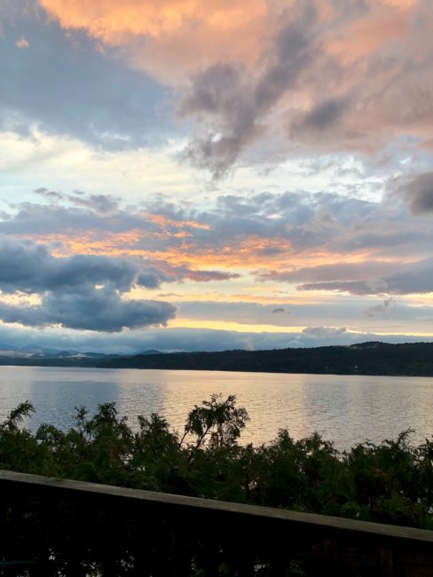 Sunset over Lake Champlain at Basin Harbor