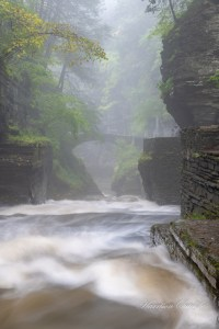 waterfalls in the finger lakes region, Mist over water at Robert H. Treman State Park