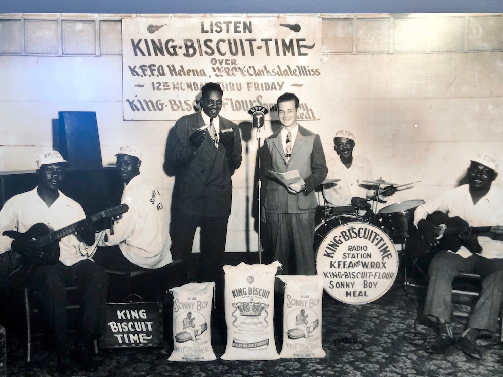 King Biscuit Time radio show vintage photo