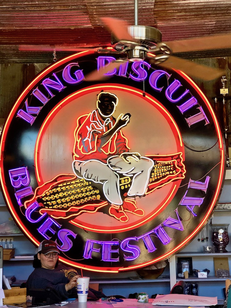 KIng Biscuit Blues Festival neon sign