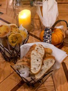 Bread basket at Amaya restaurant, Hotel Santa Fe