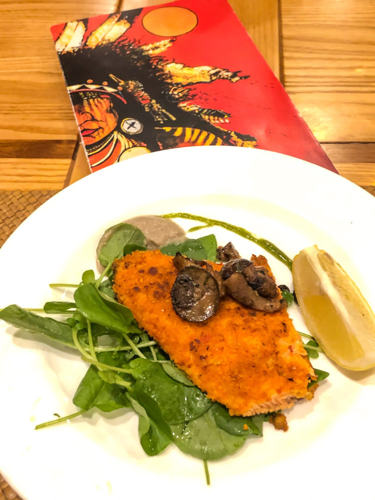 Ruby Trout on a bed of watercress