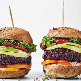 Beef and beet burgers, healthy easy 4th of July recipes