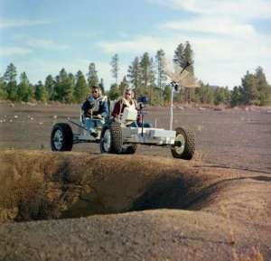 Lunar Rover Vehicle at Cinder Lake Crater Fields