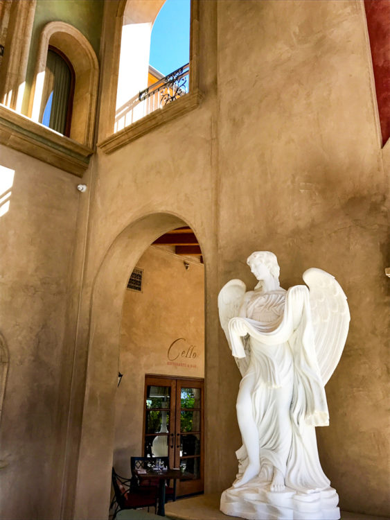 Marble sculpture at Allegretto Vineyard Resort, Paso Robles