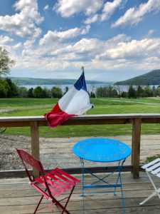 View from Domaine LeSeurre Winer, Finger Lakes wines