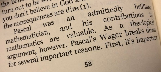 A paragraph introducing Pascal, but the large text and full justification mean that there are large spaces between the words