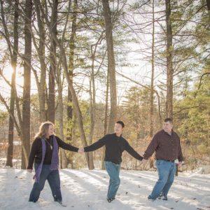 Sanford, Maine Family Photographer creating custom artwork for your home.
