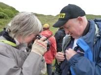 Bio walk Michael and Clare with primroses