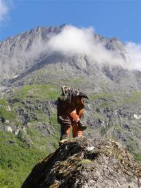 Troll at the foot of Trolstigen