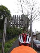 Onto the bike path to Caernarfon