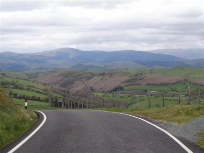 Mountain road from Machynlleth to Llanidloes