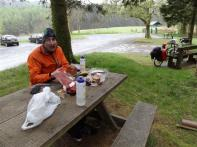 Lunch stop near Llanidloes