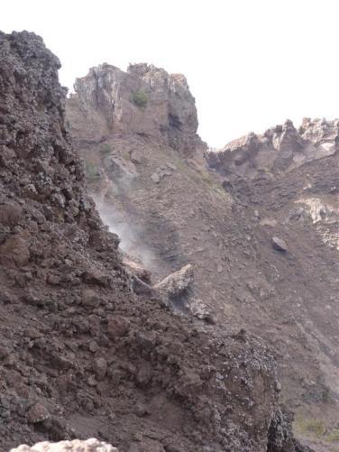Smoking crater, Vesuvius