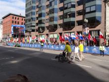Boston Marathon Finishline, the day before the race