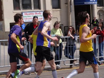 Marcus running the Boston Marathon
