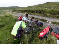Rough road to Cape Wrath causes our only puncture