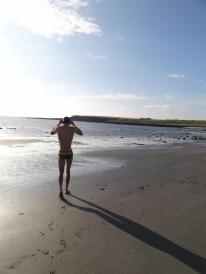 Evening dip, Skara Brae, Orkney