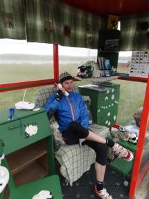 The world famous Unst Bust Shelter, Shetland