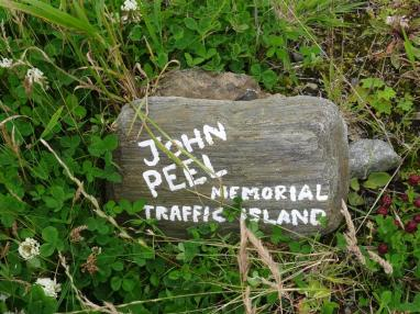 John Peel Memorial Traffic Island, Unst, Shetland