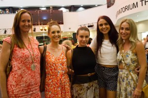 Susan Flanders, Kathy Gardiner, Zoe Mayne, Katie Parker and Penny Sainsbury at the BWF event. Photo by Daniel Seed.