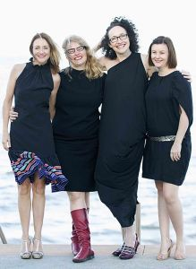 The Belloo team (left to right): Caroline Dunphy, Kathryn Kelly, Katherine Lyall-Watson and Danielle Shankey